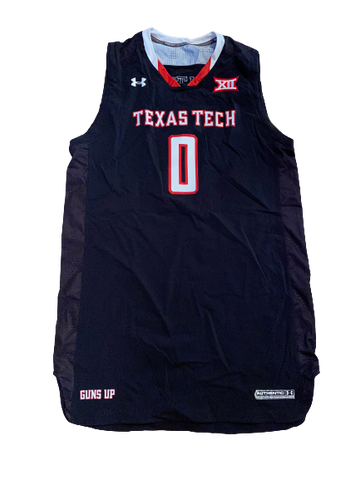 Tommy Hamilton Texas Tech Basketball Game-Worn Jersey (Size XXL +2 Length)