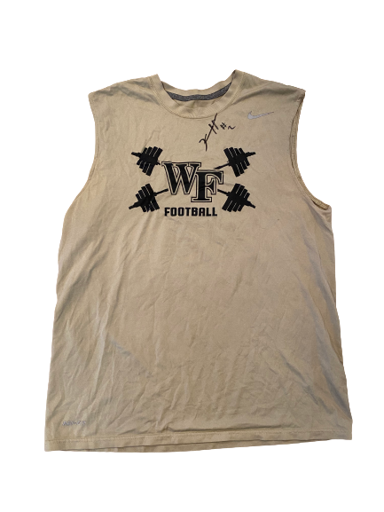 Kendall Hinton Wake Forest Football SIGNED Team Issued Tank (Size M)