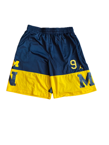Mike McCray Michigan Jordan Shorts With Number (Size XL)