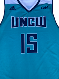 Devontae Cacok UNCW Basketball Game-Worn Jersey (Size XL)
