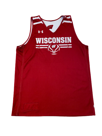 Wisconsin Basketball #31 Reversible Practice Jersey (Received from Khalil Iverson)(Size L)