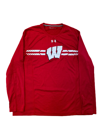 Rachad Wildgoose Wisconsin Football Team Issued Long Sleeve Shirt (Size L)