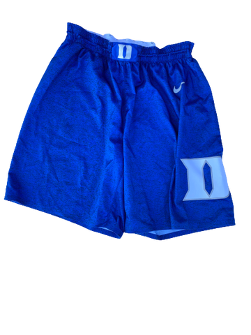 Javin DeLaurier Duke Basketball 100th Anniversary Rivalry Game Versus UNC Game-Worn Shorts (Size 42)(2/8/2020)
