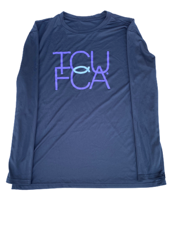 "Desmond Bane TCU ""FCA"" Long Sleeve Shirt (Size XL)"