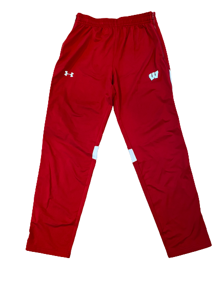 Khalil Iverson Wisconsin Basketball Under Armour Sweatpants (Size LT)