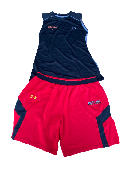Kingsley Opara Maryland Football Workout Set (Tank and Shorts)