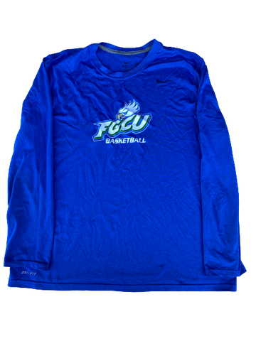 Tracy Hector Florida Gulf Coast Team Issued Long Sleeve Shirt (Size XL)