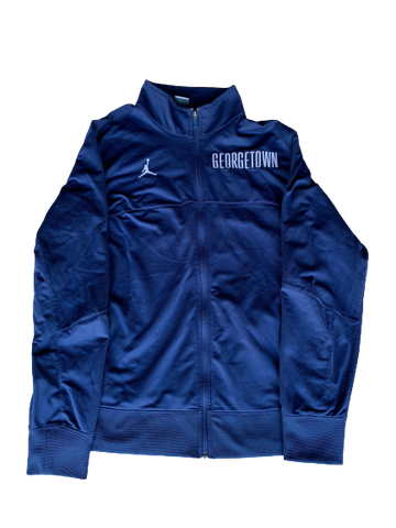 Isaac Copeland Georgetown Pre-Game Jordan Zip-Up Jacket (Size XL)
