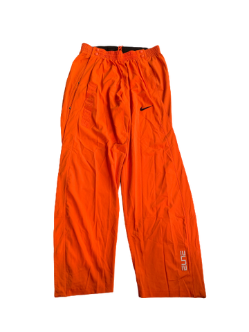 Michael Finke Illinois Basketball Team Exclusive Rip-A-Way Game Warm-Up Pants (Size XXL)