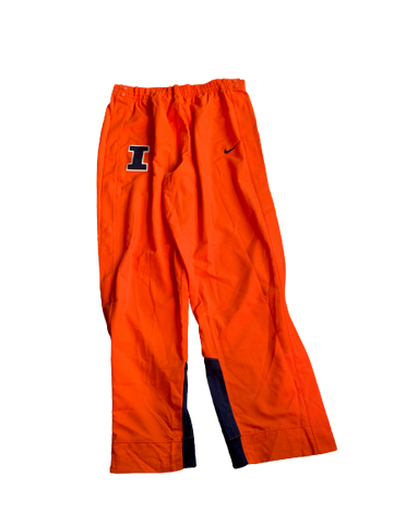 Michael Finke Illinois Basketball Team Exclusive Game Rip-A-Way Warm-Up Pants (Size XXL)