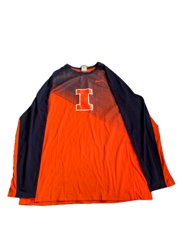 Michael Finke Illinois Basketball Team Exclusive Game Shooting Shirt (Size XXL)