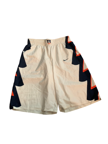 Michael Finke Illinois Basketball 2014-2015 Game Worn Shorts (Size M)
