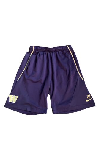 Taylor Rapp Washington Football Team Issued Shorts with Number (Size L)