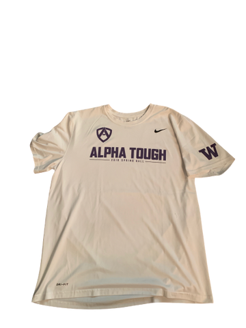 "Taylor Rapp Washington Player Exclusive ""Alpha Tough"" Workout Shirt (Size XL)"