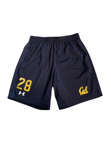 Quentin Tartabull California Football Team Issued Workout Shorts (Size L)