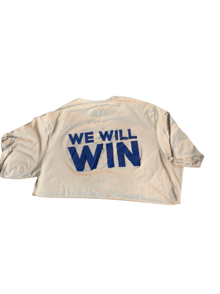 "Carter Stanley Kansas Team Issued ""We Will Win"" T-Shirt (Size L)"