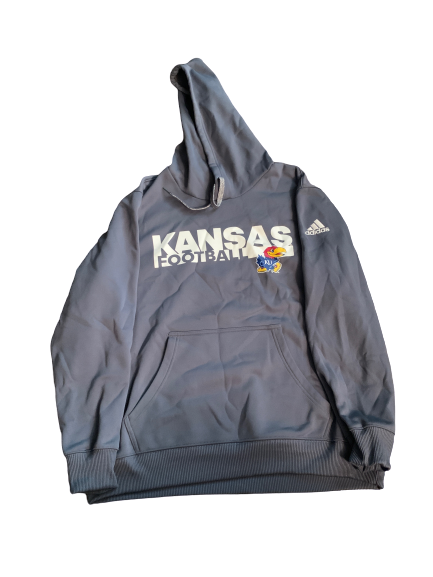 Carter Stanley Kansas Football Team Issued Sweatshirt (Size XL)