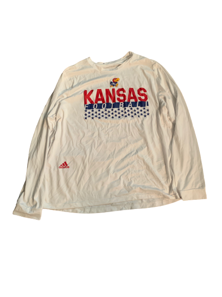 Carter Stanley Kansas Football Team Issued Long Sleeve Shirt (Size XL)