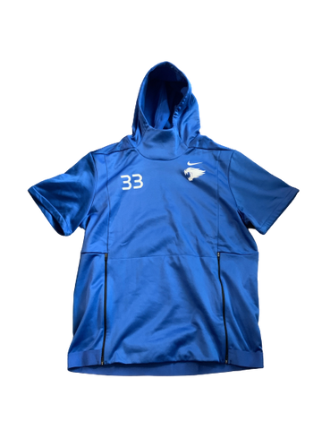 David Bouvier Kentucky Football Team Exclusive Short Sleeve Hoodie with Number (Size L)