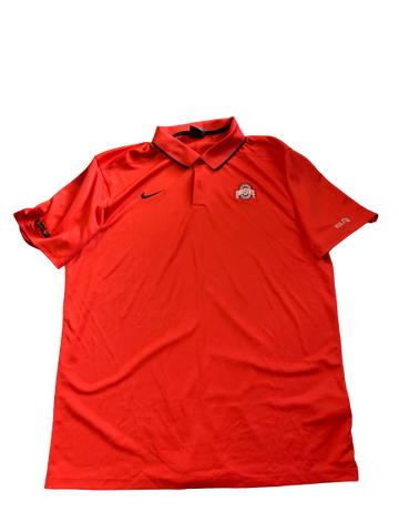 Andre Wesson Ohio State Team Issued Polo Shirt (Size L)