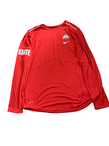 Andre Wesson Ohio State Team Issued Long Sleeve Shirt (Size XLT)