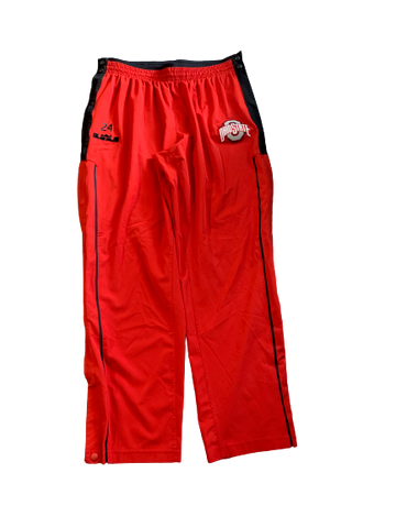 Andre Wesson Ohio State Team Issued Game Snap-Off Warm-Up Sweatpants with Number (Size XL)