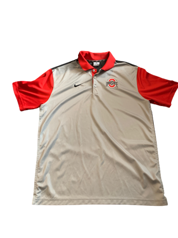 Jalin Marshall Ohio State Team Issued Polo Shirt (Size L)