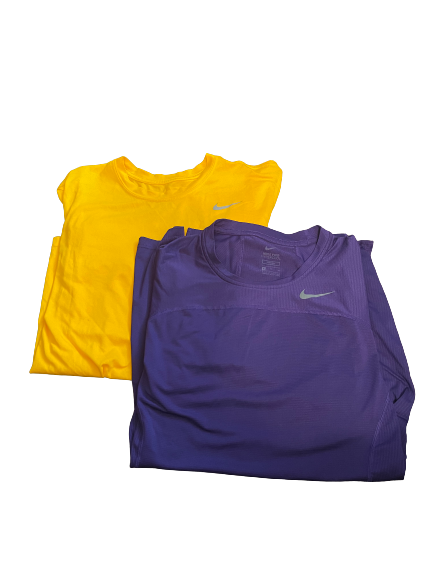 Brandon Sampson LSU Basketball Team Issued Set of (2) Nike Shirts