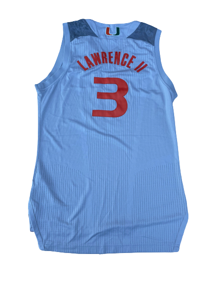 Anthony Lawrence Miami Basketball Game Worn Jersey (Size L)