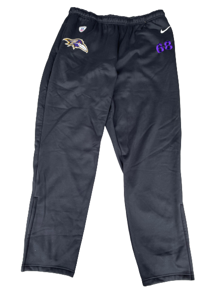Matt Skura Baltimore Ravens Team Issued Sweatpants (Size 3XL)