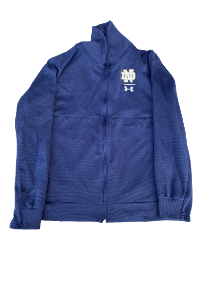 Tommy Kraemer Notre Dame Football Team Issued Travel Jacket (Size XXXL)