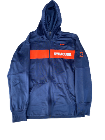 Chris Fredrick Syracuse Football Team Issued Jacket with Number (Size L)