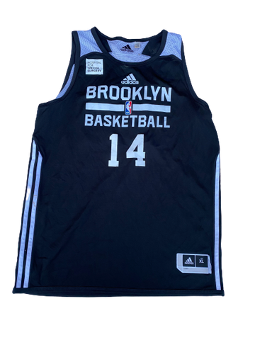 K.J. McDaniels Brooklyn Nets Reversible Practice Jersey (Size XL +2 Length)