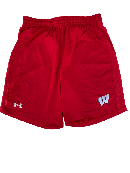 Zach Hintze Wisconsin Team Issued Workout Shorts (Size L)