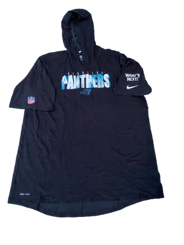 Jalen Jelks Carolina Panthers Team-Issued Short Sleeve Hoodie (Size XL)