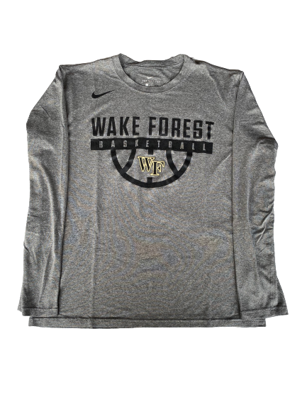 L.D. Williams Wake Forest Basketball Long Sleeve Shirt (Size L)
