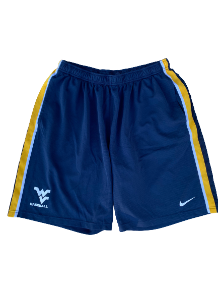 Chase Illig West Virginia Baseball Workout Shorts (Size XL)