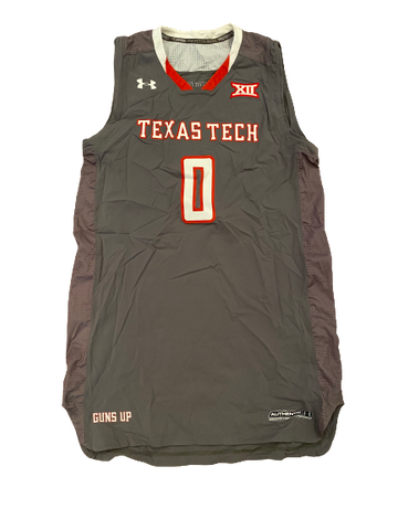 Tommy Hamilton Texas Tech Basketball Game-Worn Jersey (Size XL +2 Length)