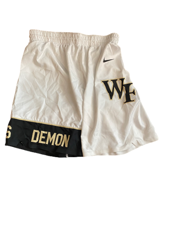 Torry Johnson Wake Forest Basketball 2019-2020 Game-Worn Shorts (Size 38)