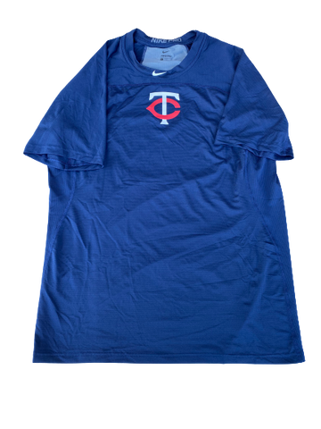 Cole Sands Minnesota Twins Compression Workout Shirt (Size XL)