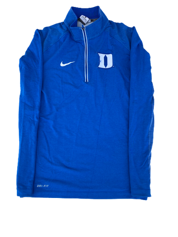 Imani Dorsey Duke Soccer Team Issued Quarter-Zip with Number on Back (Size S)