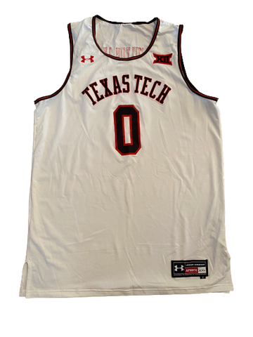 Tommy Hamilton Texas Tech Basketball Throwback Game-Worn Jersey (Size XXL)