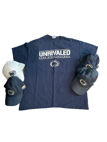 Penn State Football T-Shirt and (4) Hats (Size XL)