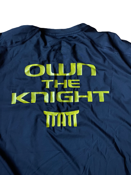 "E.J. Singler Oregon Player Exclusive ""Own The Knight"" Game Shooting Shirt (Size XXL Compression)"