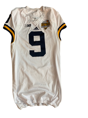 Mike McCray Michigan Football Team Issued Official 2016 Buffalo Wild Wings Citrus Bowl Jersey
