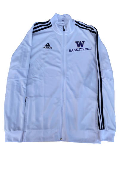 Nahziah Carter Washington Basketball Adidas Zip-Up Jacket (Size L)