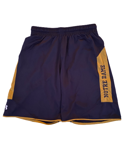 Te'von Coney Notre Dame Under Armour Shorts (Size XL)