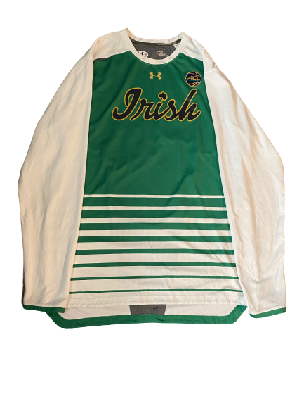 John Mooney Notre Dame Pre-Game Long Sleeve Warm-Up with ACC Patch(Size XXLT)