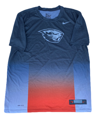 Hunter Jarmon Oregon State Team Issued Workout Shirt (Size L)
