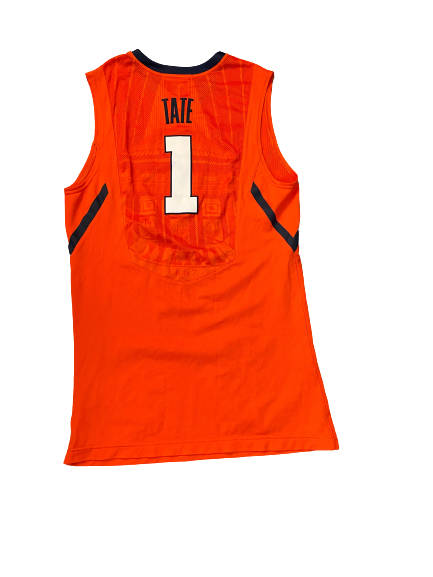 Jaylon Tate Illinois Basketball 2013-2014 Game Worn Jersey (Size 48)